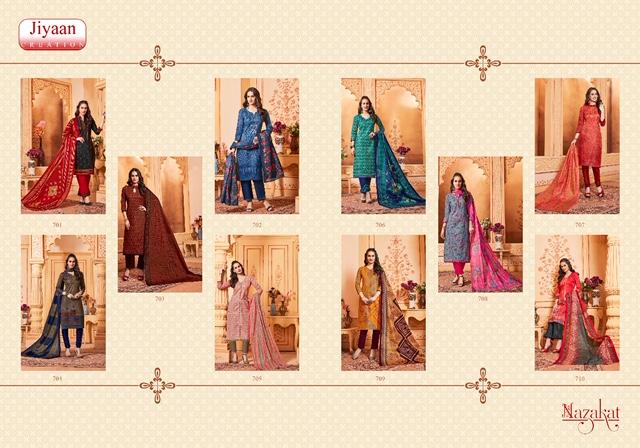 3 pc combo offer Jiyaan Nazakat Womens Cotton Silk Salwar Suit 18-30 Years