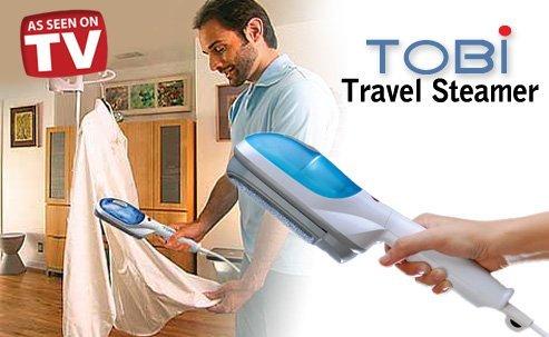 Tobi Quick Travel Steamer White Blue (HOT SELLING - 2PC PACK)