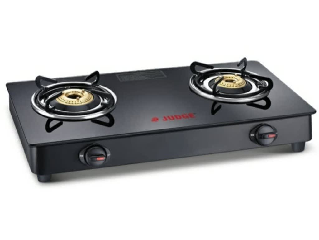Judge by TTK Prestige glasstop gas stove - JAG 04 GT 2 burner( 60*37*12.5) weight without box 4.7kgs