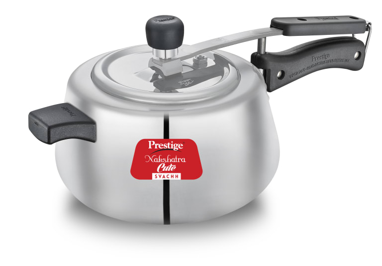 Prestige Aluminium Innerlid Pressure Cooker ,NAKSHATRA CUTE SVACHH PRESSURE COOKER 5 Litre ,Warranty: 5 year, Weight Without Box 1.61 Kg