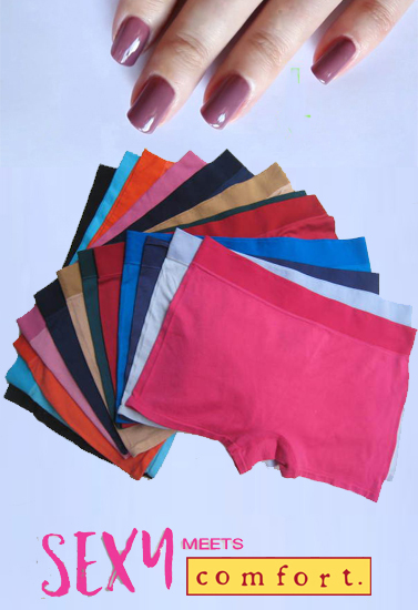 Ladies Silk Cotton Stretch Underwear Shorts Pack-12