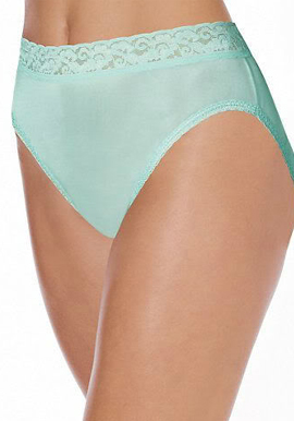 Hanes – Sea Green Lace Trim Underwear-L