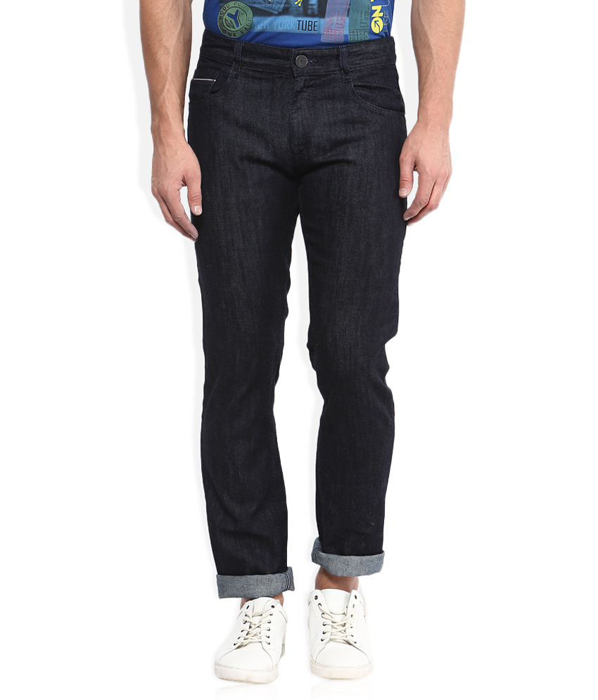 Seasons Players Navy Raw Denim Slim Fit Jeans