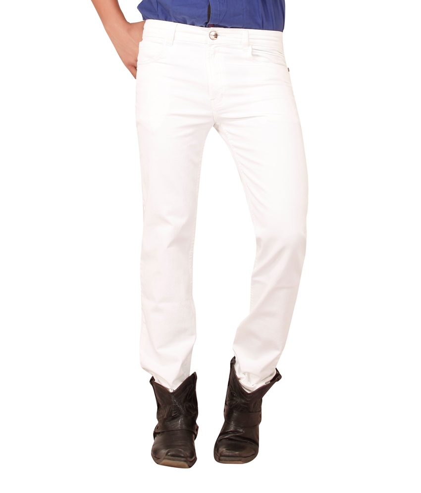 Seasons Jeans White Regular Fit Jeans