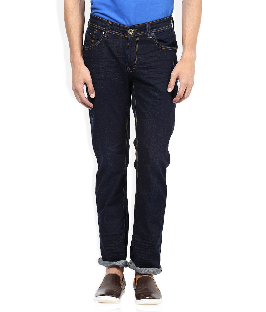 Seasons   Navy Raw Denim Slim Fit Jeans