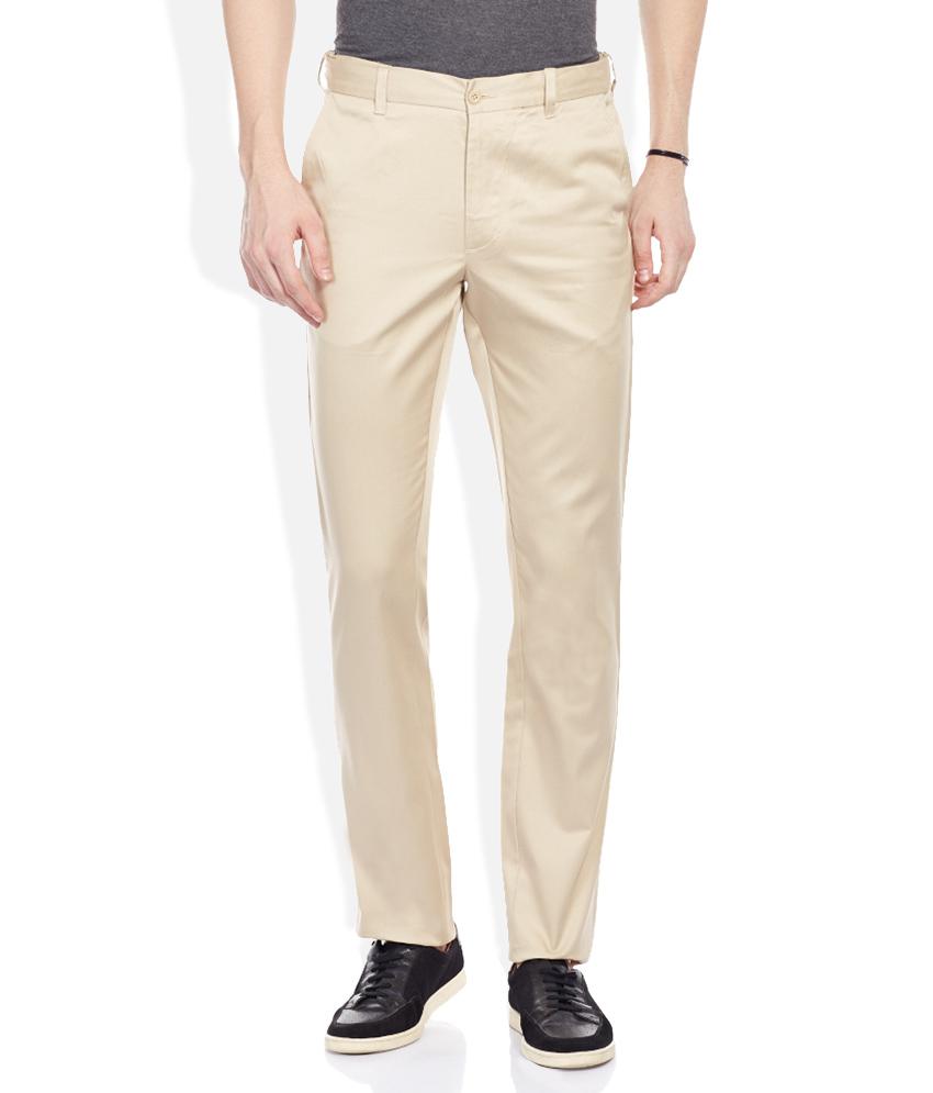 Khaki Flat Casuals Trouser