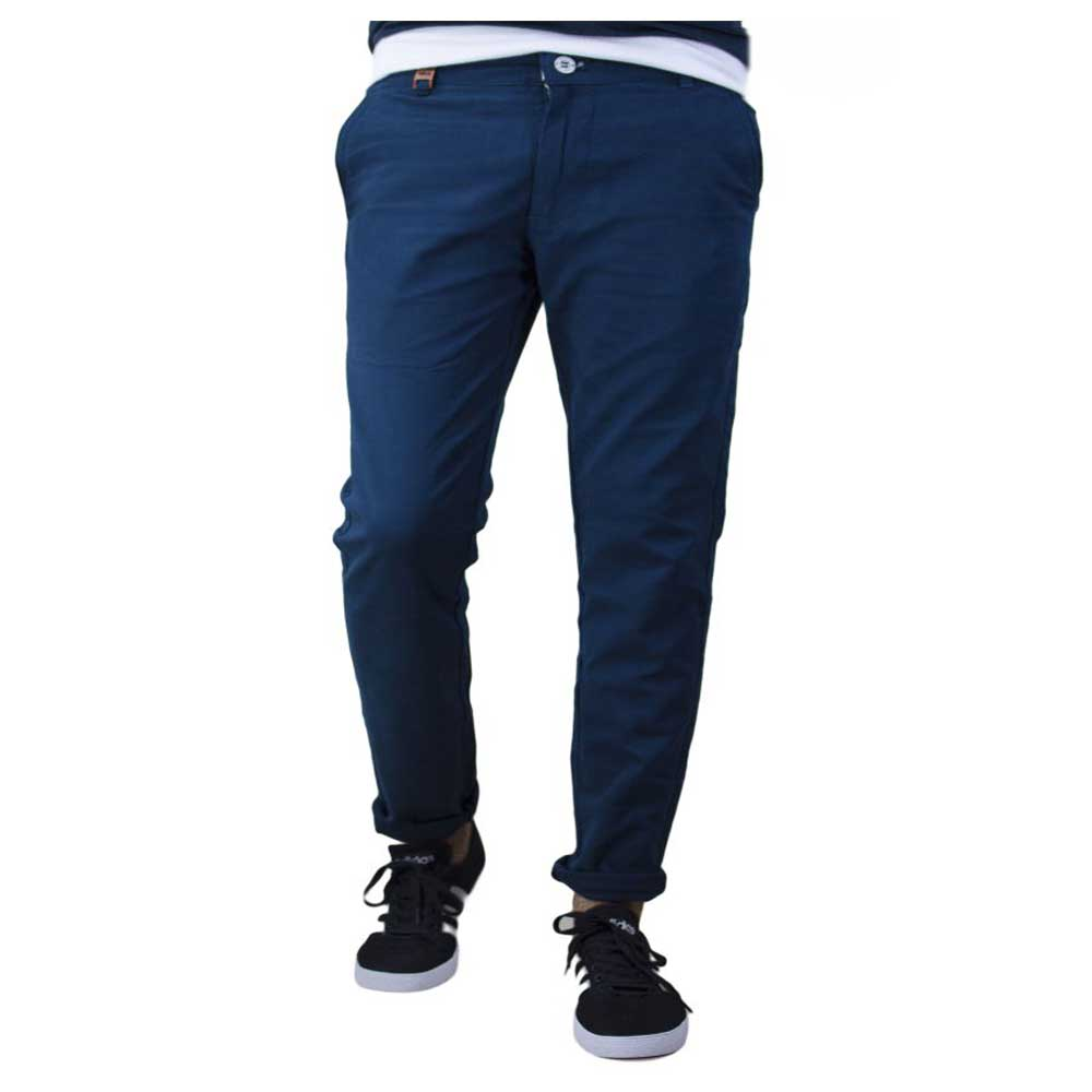 Blue Slim Flat Trouser