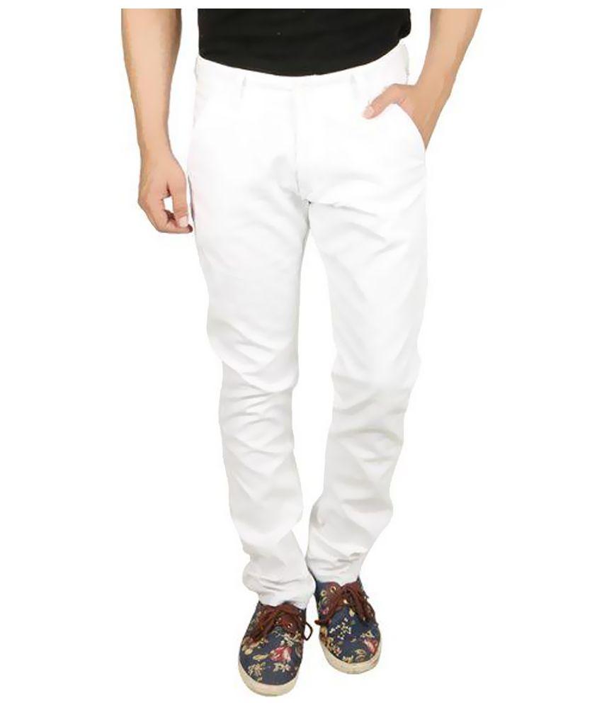 Seasons  White Slim Fit Trouser