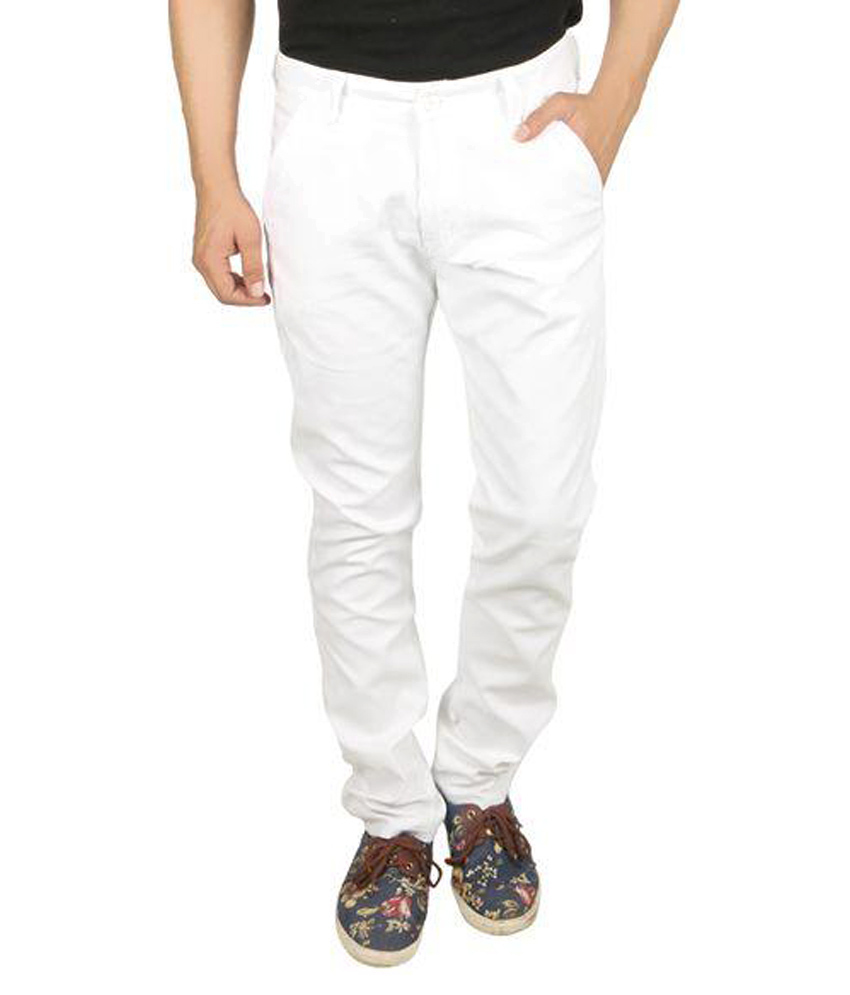 Seasons  White Slim Fit Trouser